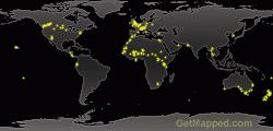 Earth at Night Map